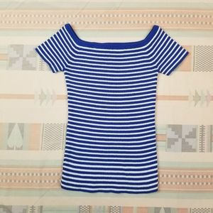 Madewell Striped Off the Shoulder Top
